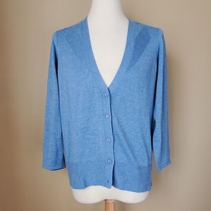 The Limited blue button up cardigan